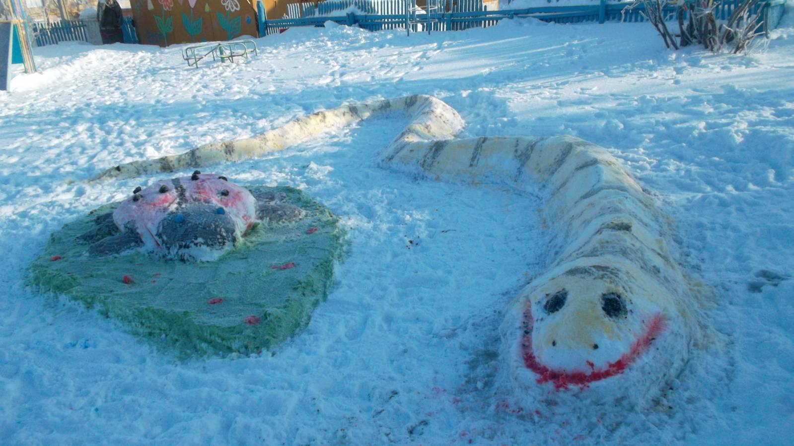 Поделки из снега на участке детского сада своими руками фото 26